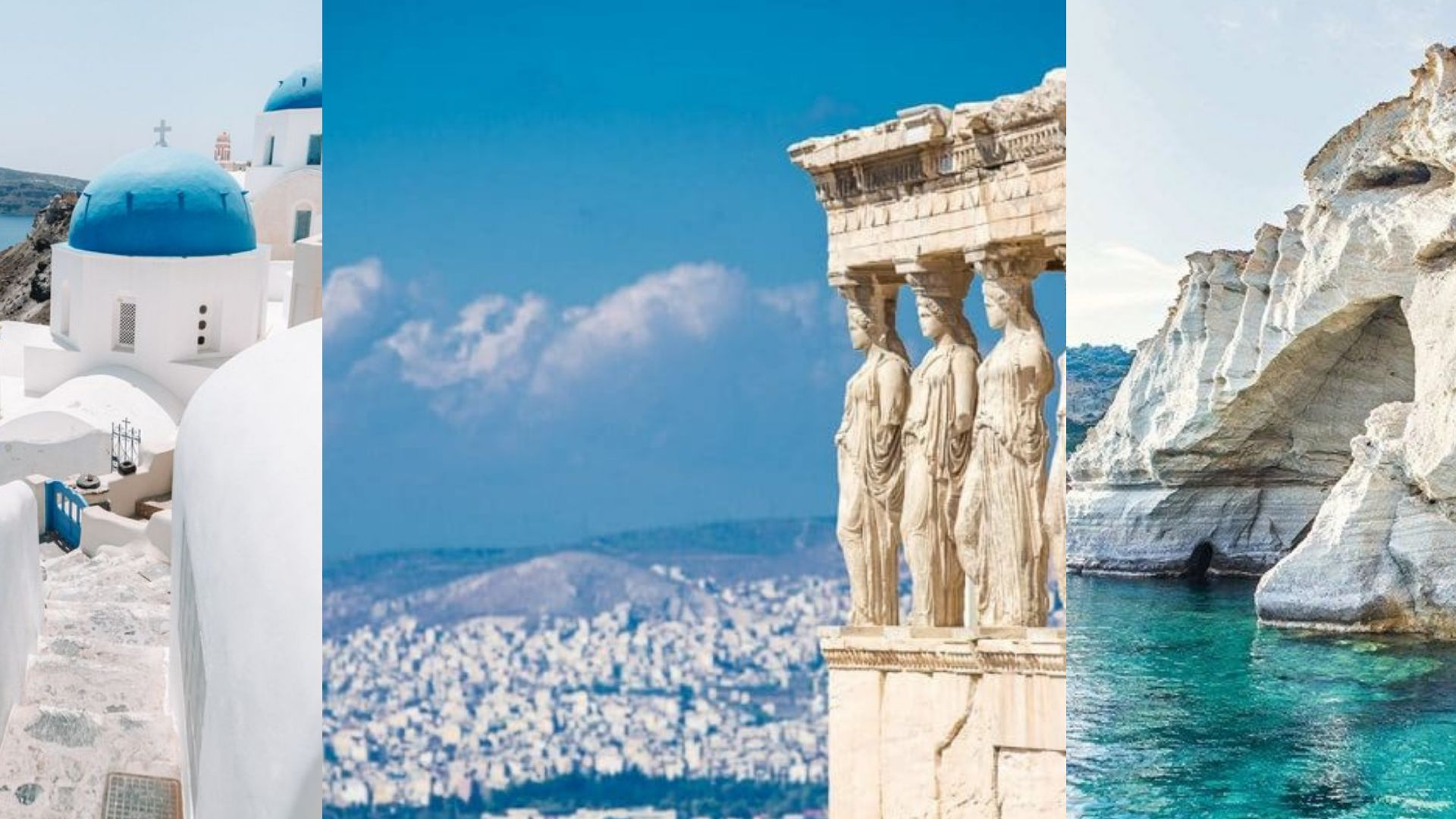 Scoperta di Atene, Santorini e Milos